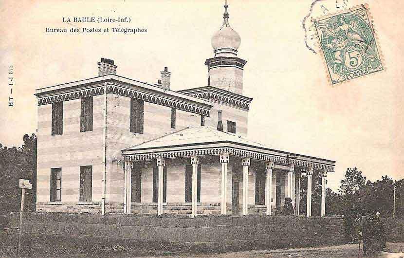 Les lieux publics en cartes postales anciennes la baule - Bureau de poste la chapelle sur erdre ...